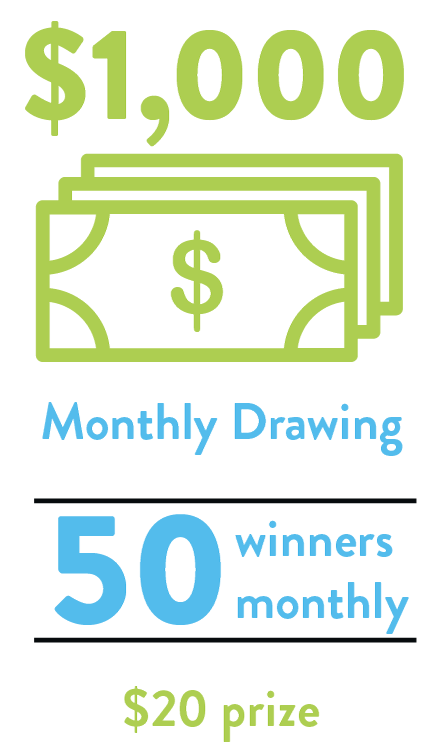 50 winners monthly